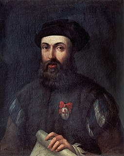 Ferdinand Magellan, Portuguese navigator who was the first European to visit Guam (March 6, 1521) while commanding the fleet that circumnavigated the globe Retrato de Hernando de Magallanes.jpg