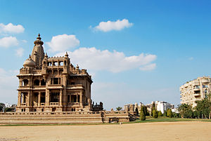 Heliopolis, Cairo - The reverse side of Baron Empain Palace (Qasr Al Baron), on Salah Salem, a main street in Heliopolis.