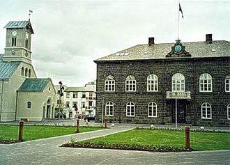 Althing - Parliament House, at Austurvöllur in Reykjavík, built 1880–1881.