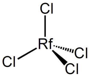 Rutherfordium - The tetrahedral structure of the RfCl4 molecule