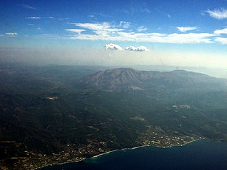 Attavyros (municipality) - Image: Rhodes island aerial