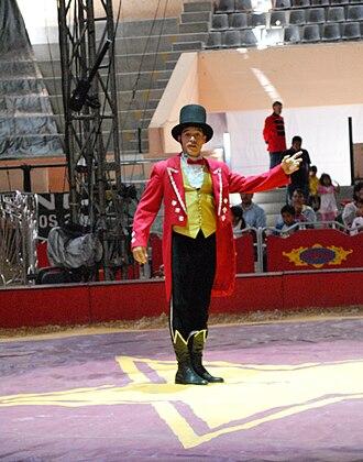 Ringmaster (circus) - A Ringmaster of the Circus Atayde at the Feria de Hidalgo 2009 in Pachuca, Hidalgo, Mexico.