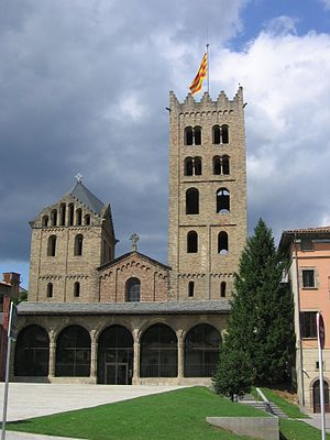 Santa Maria de Ripoll - Façade of the monastery.