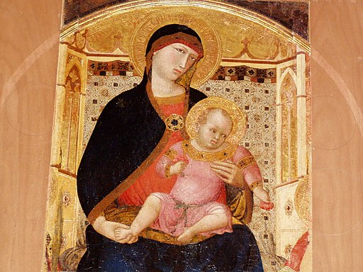 Roccalbegna, chiesa dei santi pietro e paolo, madonna col bambino di ambrogio lorenzetti
