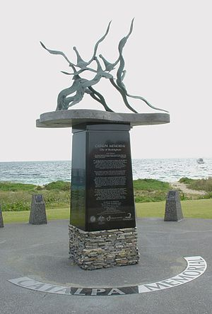 Rockingham, Western Australia - The 'wild geese' memorial