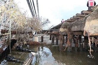 IND Rockaway Line - Washed out track support after Hurricane Sandy