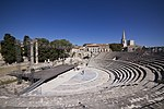 Ruins at the Roman theatre of Arles