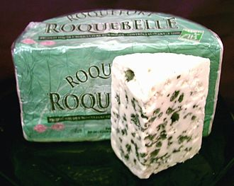 Raw milk - French Roquefort, a famous blue cheese, which is required by European law to be made from raw sheep's milk.