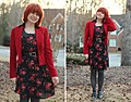 Rose Print Dress with a Red Vintage Blazer (16159482384).jpg