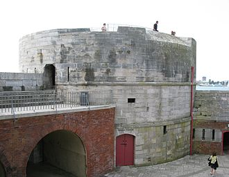 Portsmouth - The Round Tower was built in 1418 to defend the entrance to Portsmouth Harbour.