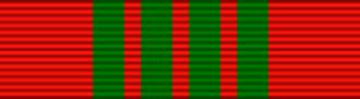 Gerald W. Johnson (military officer) - Image: Ruban de la croix de guerre 1939 1945