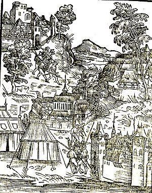 Battle of Orsha - Russo-Polish war, image from Jacob Piso Die Schlacht von dem Kunig von Poln und mit dem Moscowiter, 1514