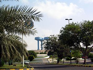 Image:Ruwais(UAE) with blue water towers