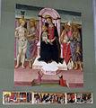 S.miniato, san domenico, int., cappella degli armaleoni, maestro di san miniato, madonna e santi, predella di mariotto di nardo 02.jpg