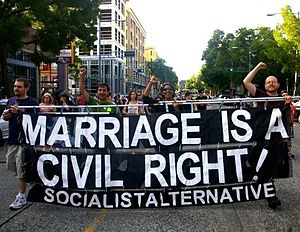 Socialist Alternative (United States) - Socialist Alternative members marching for LGBT Rights in Seattle, WA.