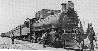 South African Class 4A 4-8-2 - No. 1559 at Hutchinson, Cape, 11 November 1916