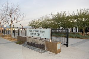 San Bernardino Transit Center - Image: SBTC sign