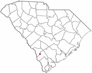 Gifford, South Carolina - Image: SC Map doton Gifford