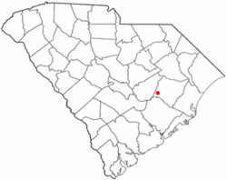 Location of Greeleyville, South Carolina