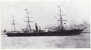 Inman Line - City of Paris of 1866 was Inman's first liner that matched the speed of Cunard Line's express ships