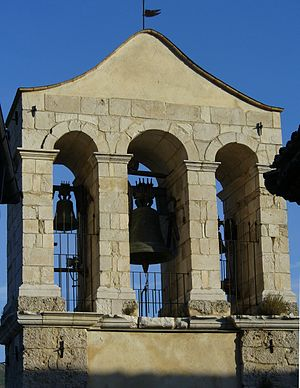 Bugnara - Bell tower of SS Rosario, the main church in Bugnara.