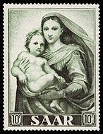 Saar 1954 352 Raffael - Sixtinische Madonna.jpg