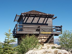 National Register of Historic Places listings in Washakie County, Wyoming - Image: Saban Lookout