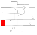 Saginaw County Michigan townships Marion highlighted.png