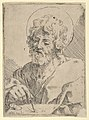 Saint Luke holding a paint brush and palette, after Reni (?) MET DP837880.jpg
