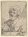 Saint Luke holding a paint brush and palette, after Reni (?) MET DP837880.jpg
