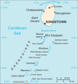 Saint Vincent e Grenadine - Mappa