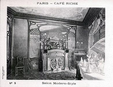 Salon Modern-Style, Art Nouveau, Café Riche, Paris