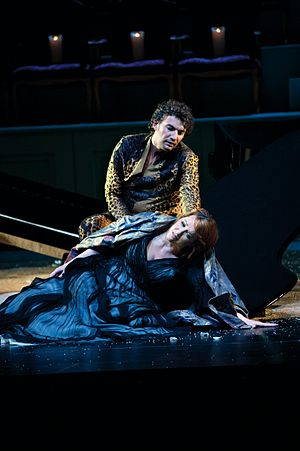 Jonas Kaufmann - Emily Magee as Ariadne and Kaufmann as Bacchus in Ariadne auf Naxos by Richard Strauss, at the Salzburg Festival of 2012