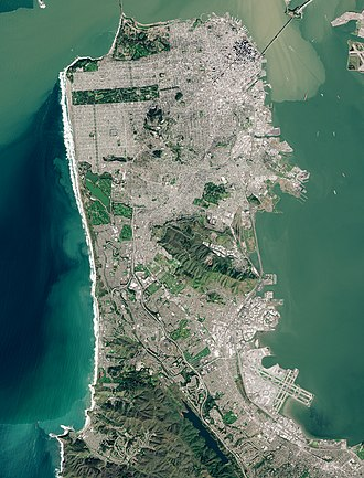 The San Francisco Peninsula San Francisco Peninsula by Sentinel-2, 2019-03-11.jpg