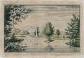 Sanderumgaard 11 of 12 Udsigt i Hauge koloreret 1803 Clemens.png