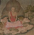 Sangye Nyenpa Rinpoche or (Sangye) Nyenpa Drupchen (the Great Adept Sangye Nyenpa) (d. 1519), primary teacher of the eighth Karmapa, from the image of the 8th Karmapa with disciples (cropped).jpg