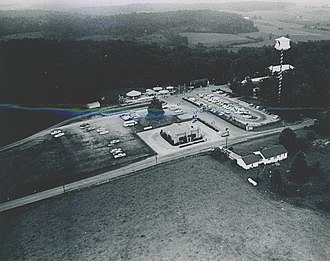 Holiday World & Splashin' Safari - An aerial view of Santa Claus Land taken around 1957