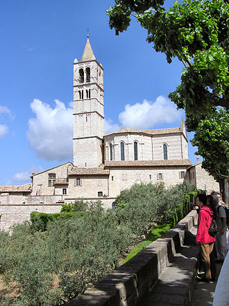 Basilica di Santa Chiara - View of the basilica complex.