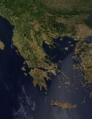Greece from orbit