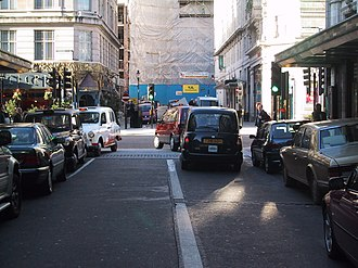 Traffic driving on the right in Savoy Court Savoy-court-drive-right-out.JPG