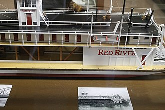 Louisiana History Museum - Scale model of the steamboat Red River