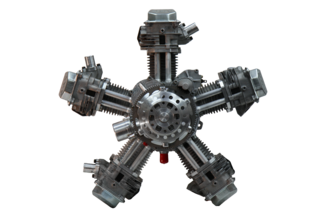 Four-stroke aircraft radial engine Scarlett mini 5 Scarlett mini 5.png
