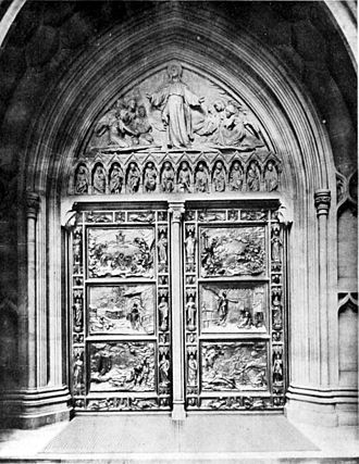 Karl Bitter - East doors and tympanum (1891), Trinity Church, New York