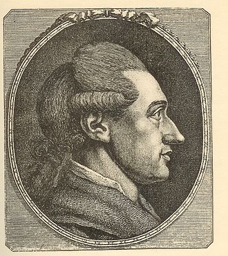 The Sorrows of Young Werther -  Goethe portrait in profile