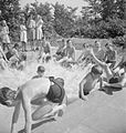 School For Evacuees- Everyday Life at Marchant's Hill Camp School, Hindhead, Surrey, England, UK, 1944 D21626.jpg