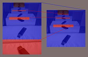 Schröder–Bernstein property - Image: Schroder Bernstein counterexample noncontiuous bijection