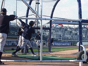 Scranton/Wilkes-Barre RailRiders - Members of the Scranton/Wilkes-Barre Yankees take batting practice before the Opening Day 2009 game versus the Lehigh Valley IronPigs at Coca-Cola Park in Allentown, Pennsylvania.
