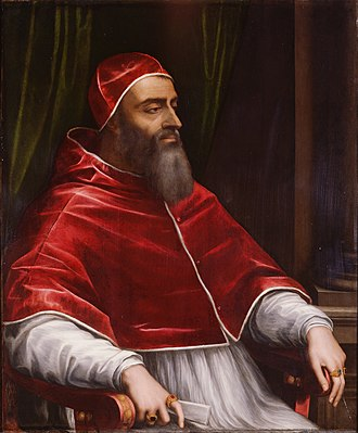 "Catherine de' Medici - Giulio di Giuliano de' Medici, Pope Clement VII, by Sebastiano del Piombo, c.1531. Clement called Catherine's betrothal to Henry of Orléans ""the greatest match in the world""."