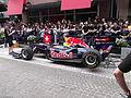 Sebastien Buemi demonstrating the Red Bull Energy Formula one car in Motomachi Yokohama Japan.jpg