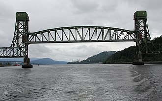 Second Narrows Bridge - The bridge when raised